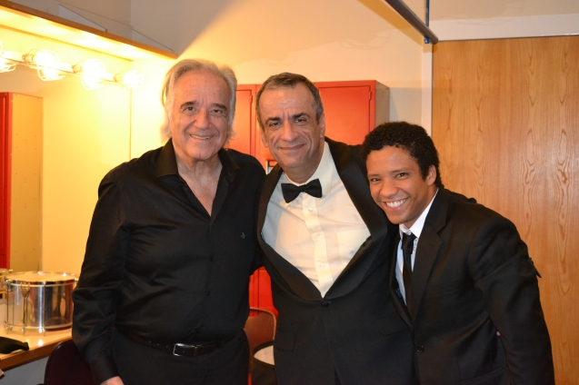 Maestro João Carlos Martins, Carlos Borges e o tenor Jean William.
