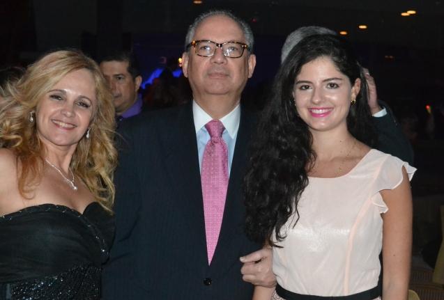 Carla Guarilha, Embaixador Helio Vitor Ramos Filho e filha)